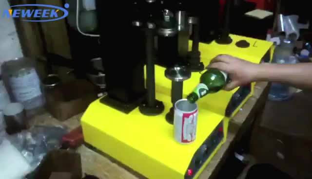 NEWEEK high quality commercial used automatic press type cola tin seaming machine aluminum beer can seamer