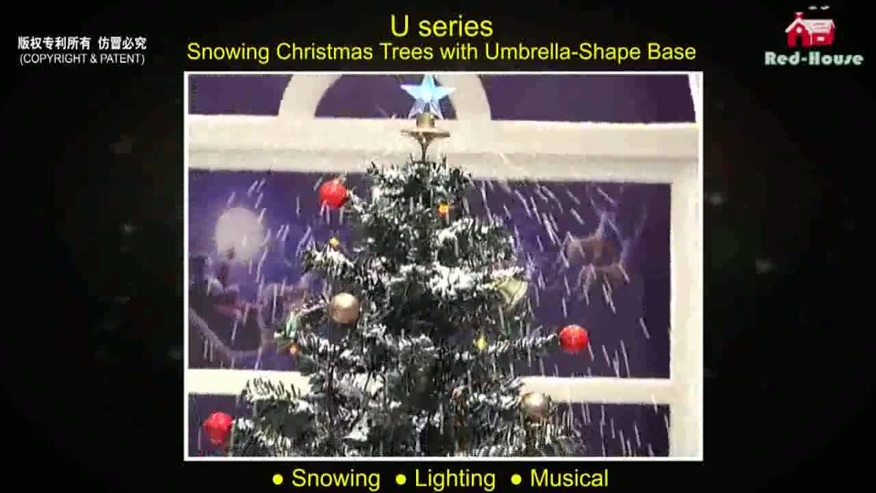 Snowing Christmas Tree with Umbrella Base High Quality Christmas Deocration