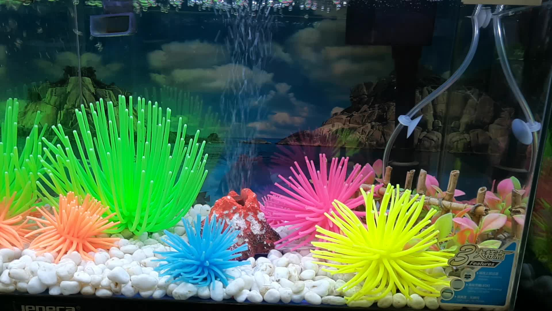 China Supplier Aquarium Ornaments Soft Artificial Coral Reef Fish