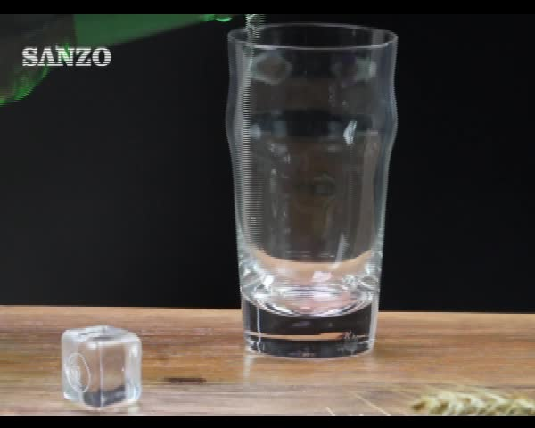 Beer Glass:beer tumble|corrugated glass|clear