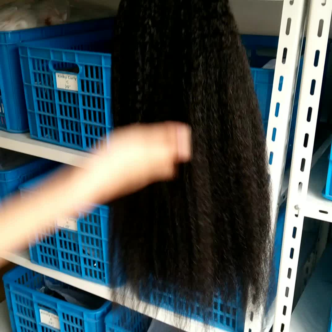 kinky straight braiding hair,Italian yaki wave texture human hair
