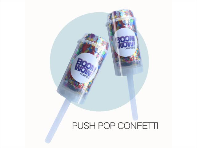Eco Friendly Wedding Party Decoration Confetti Popper Hot Push Pop