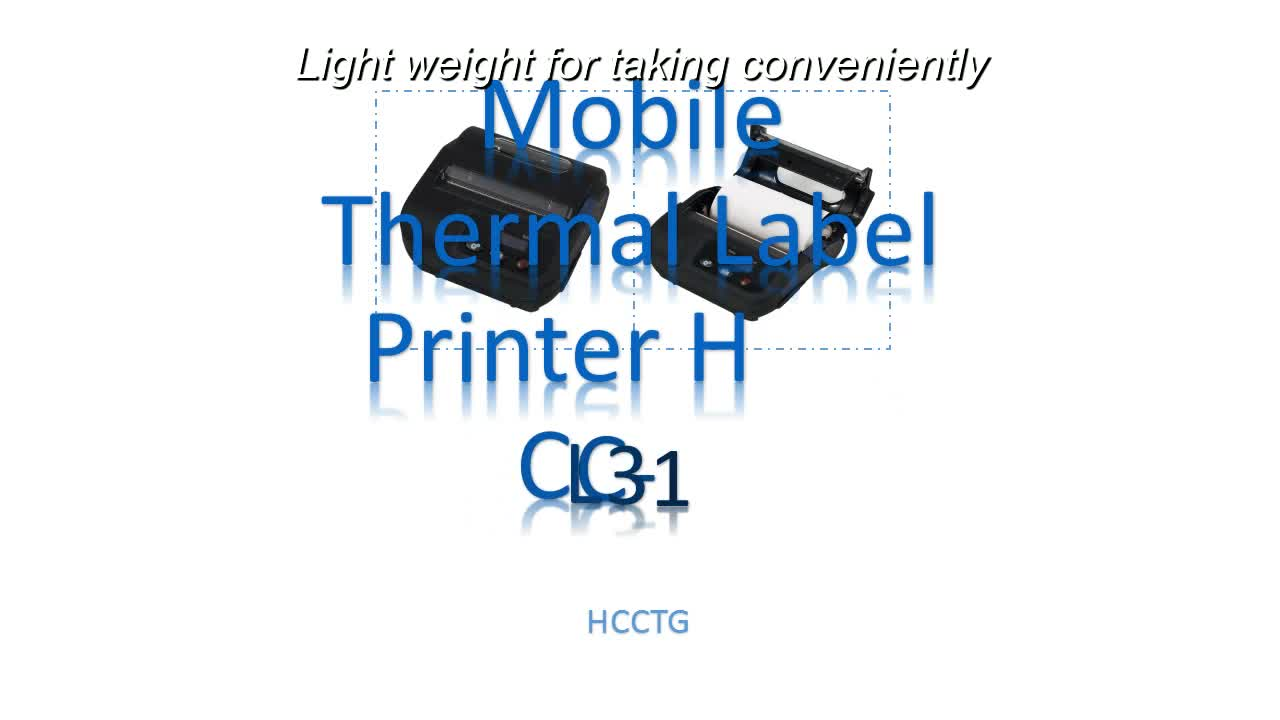 "3"" Thermal Battery Powered Portable Label Sticker Hand Held Printer HCC-L31"