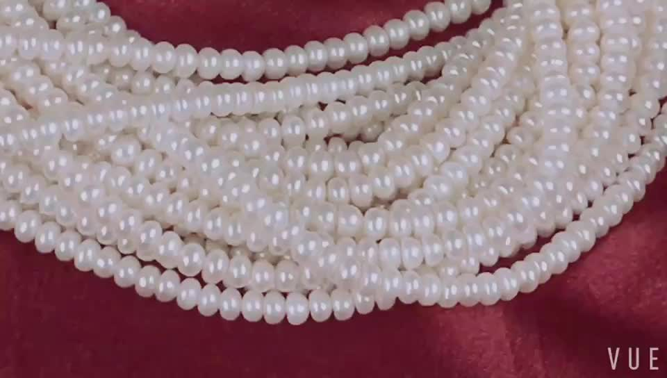 3-4mm freshwater pearl button shape natural pearl sale