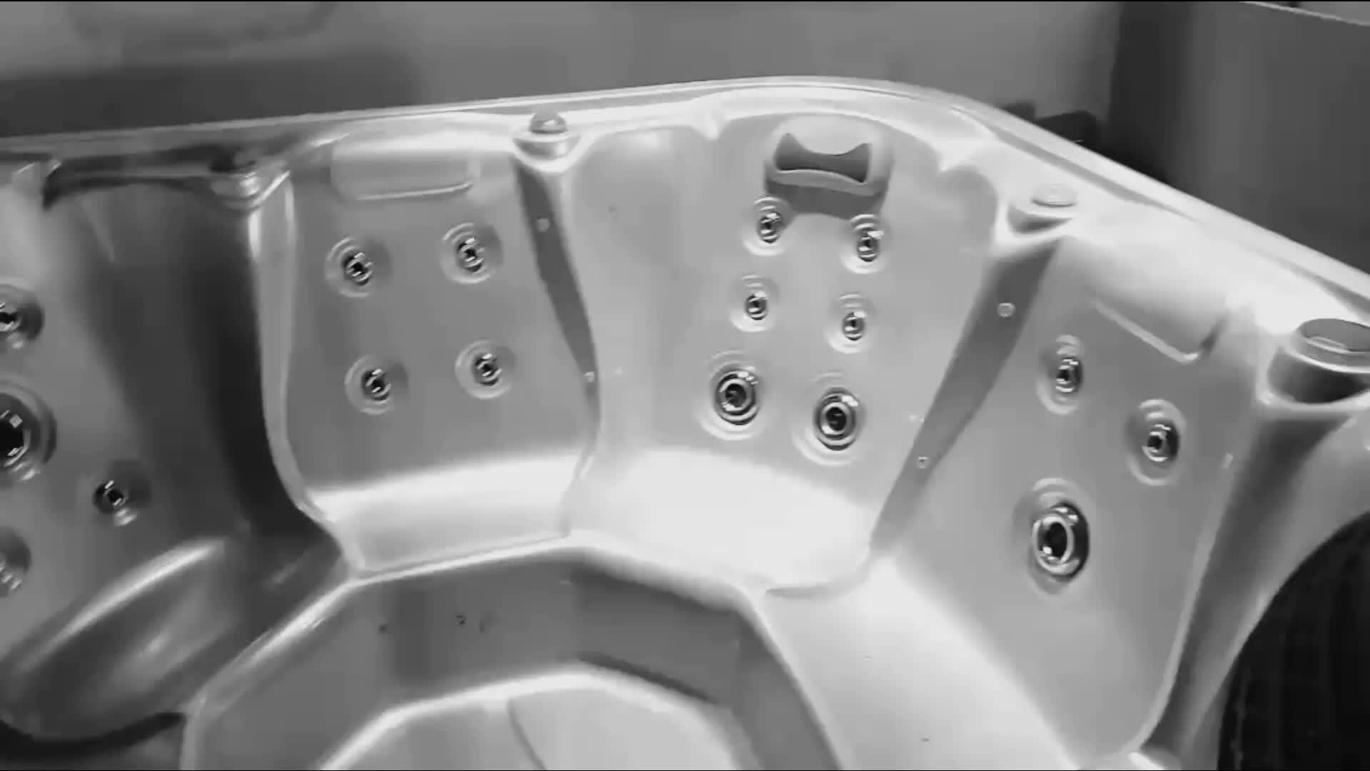 Sunrans 6 người ngoài trời whirlpool massage spa bồn