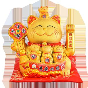 金色招财猫店铺开业送礼品发财猫