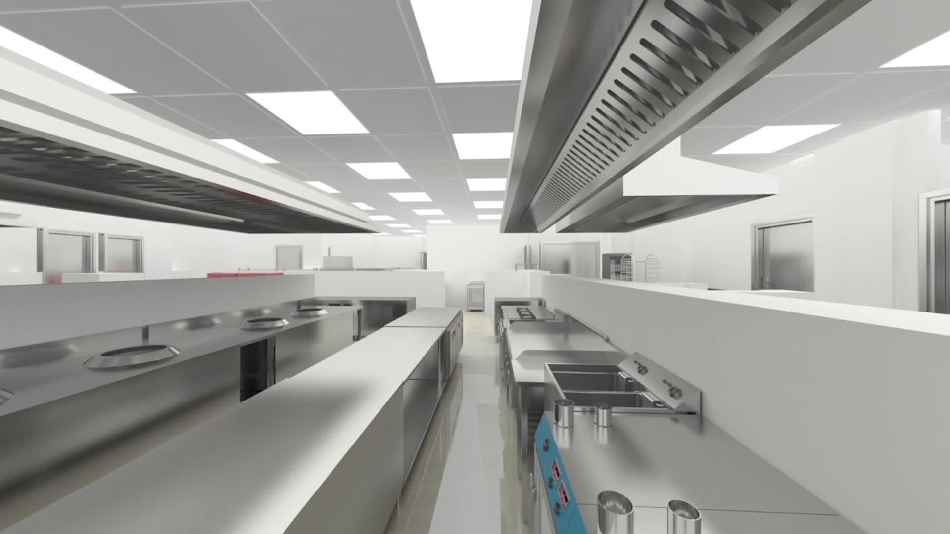 Cadレイアウト3d画像厨房デザイン