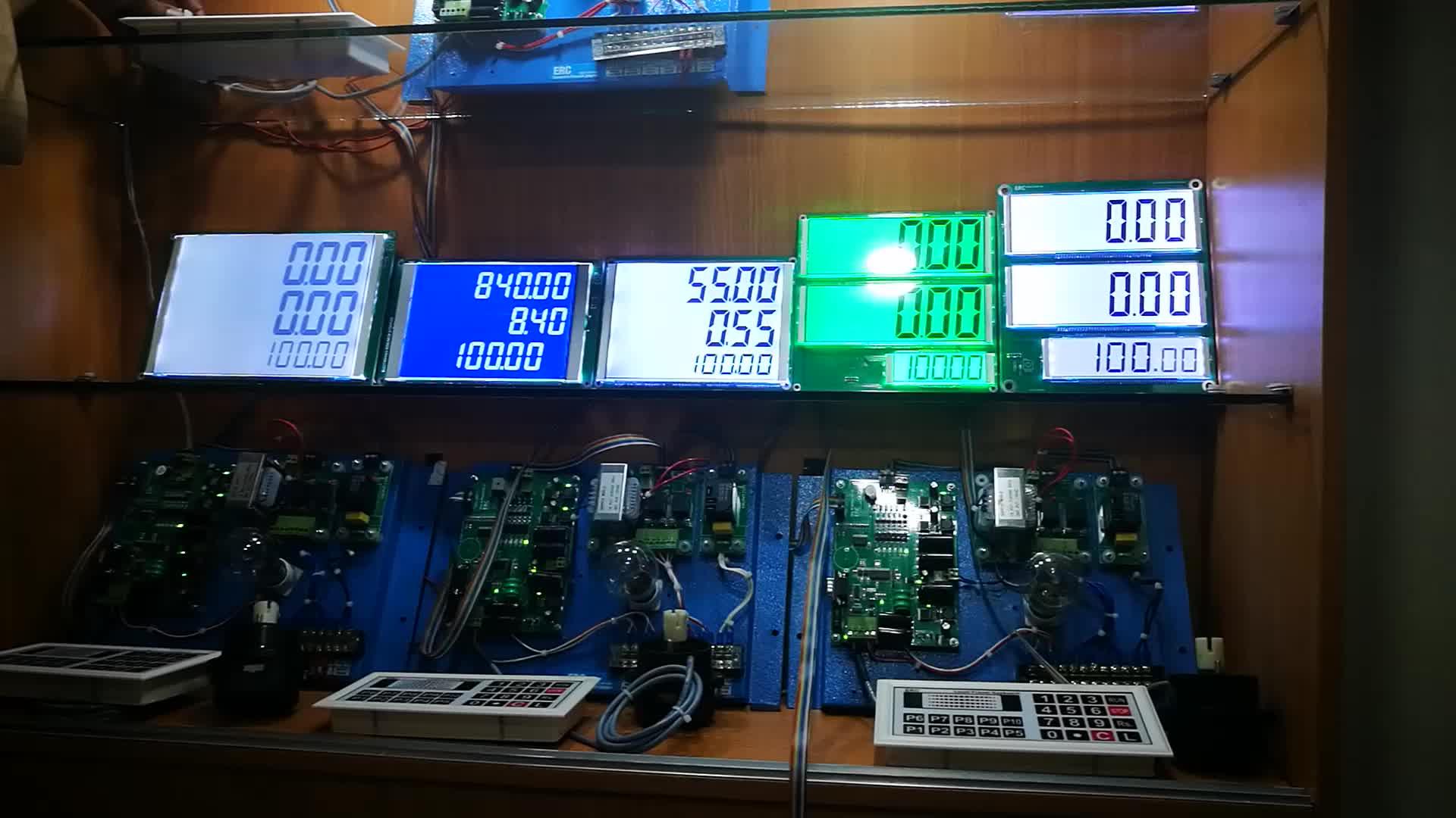 Hoge kwaliteit 7 segment Custom OEM meter lcd-scherm voor boiler