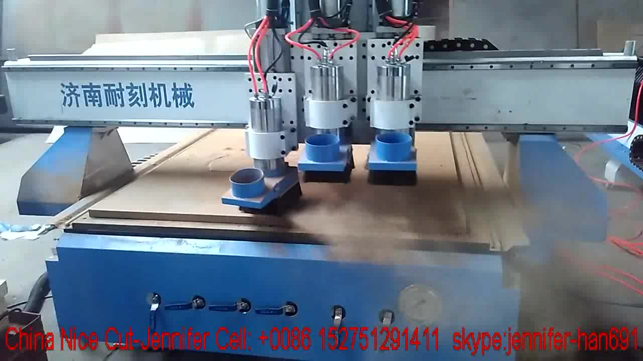 NICE CUT NC-R1325 Wood CNC Routers furniture 3d engraving 4 heads