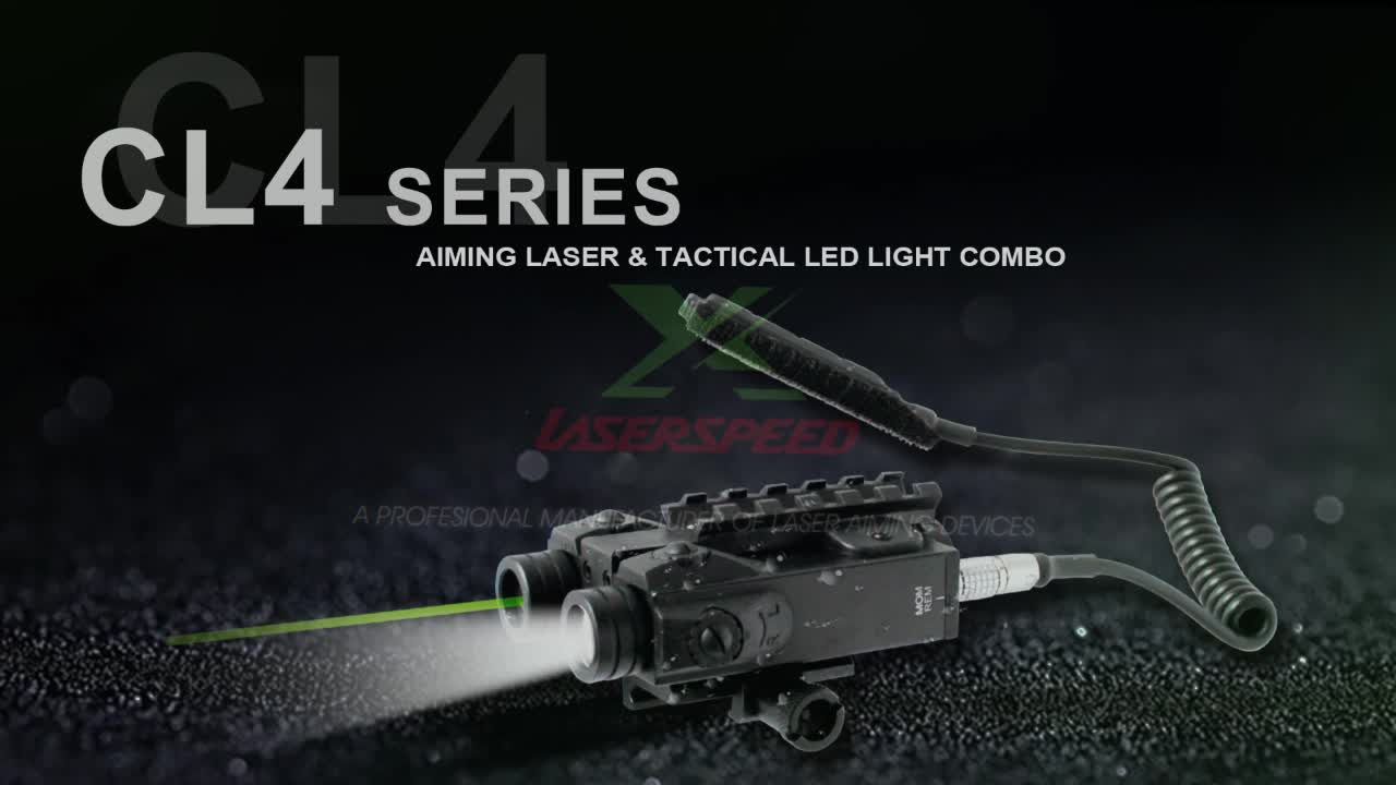 Military rifle invisible ir laser sight with led strobe light combo