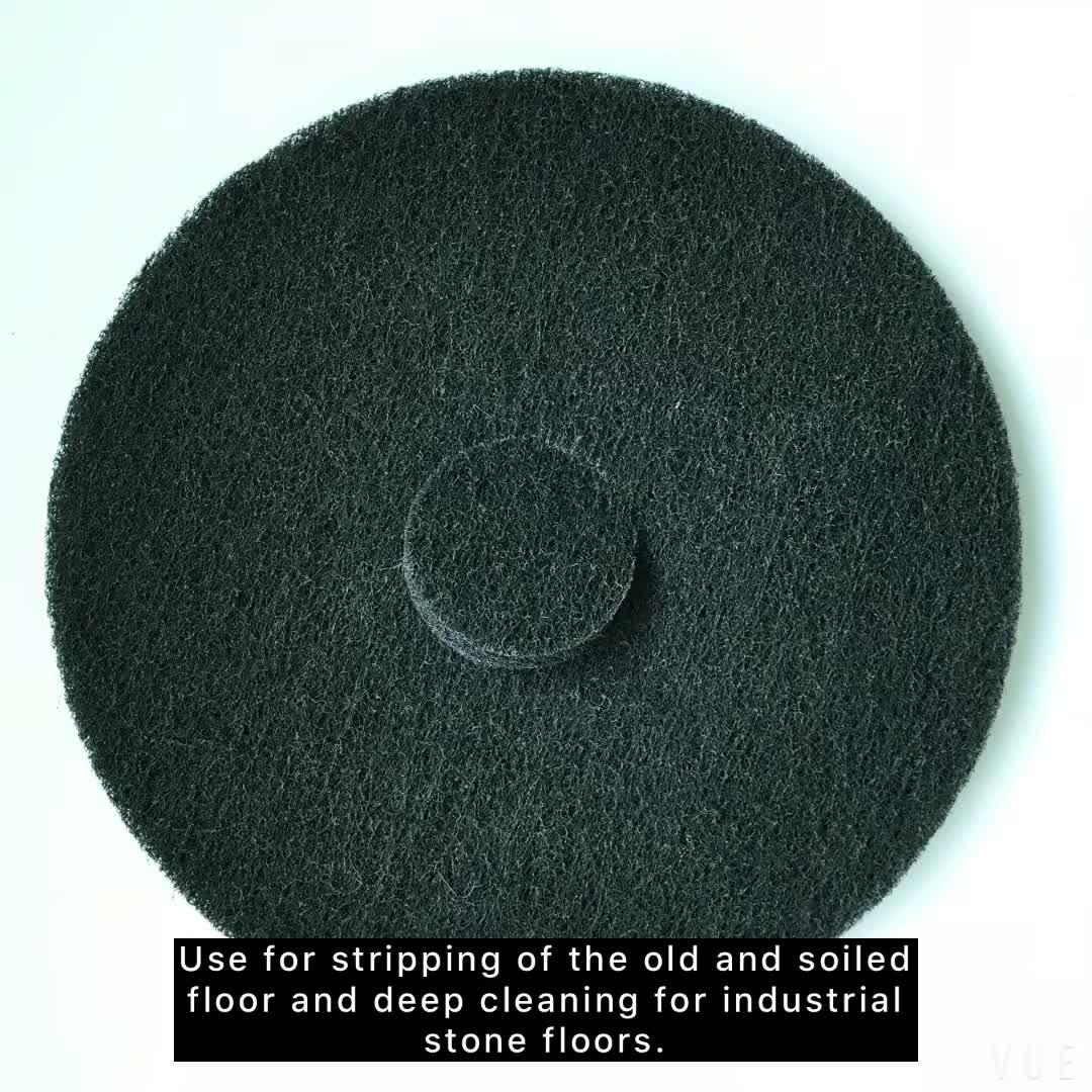 Hochwertiger Schleifbetonboden schwarz Polierscheibe