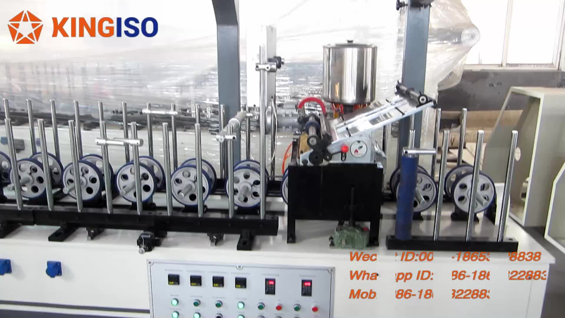 BF300A Profile Wrapping Machine For PVC Film to the Door