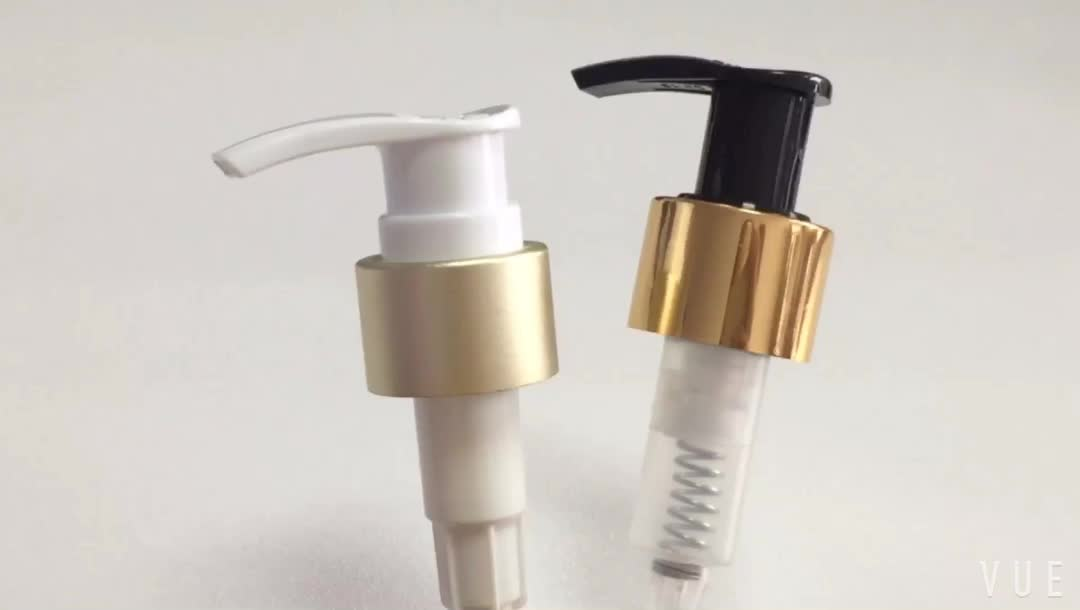 24mm 28mm Custom Order lotion pump with Plastic and aluminum Material
