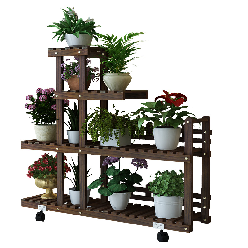 实木花架子多层室内特价阳台花盆架质量怎么样