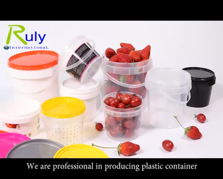 Food Grade Plastic Storage Container Plastic Yogurt Bucket 1 Liter
