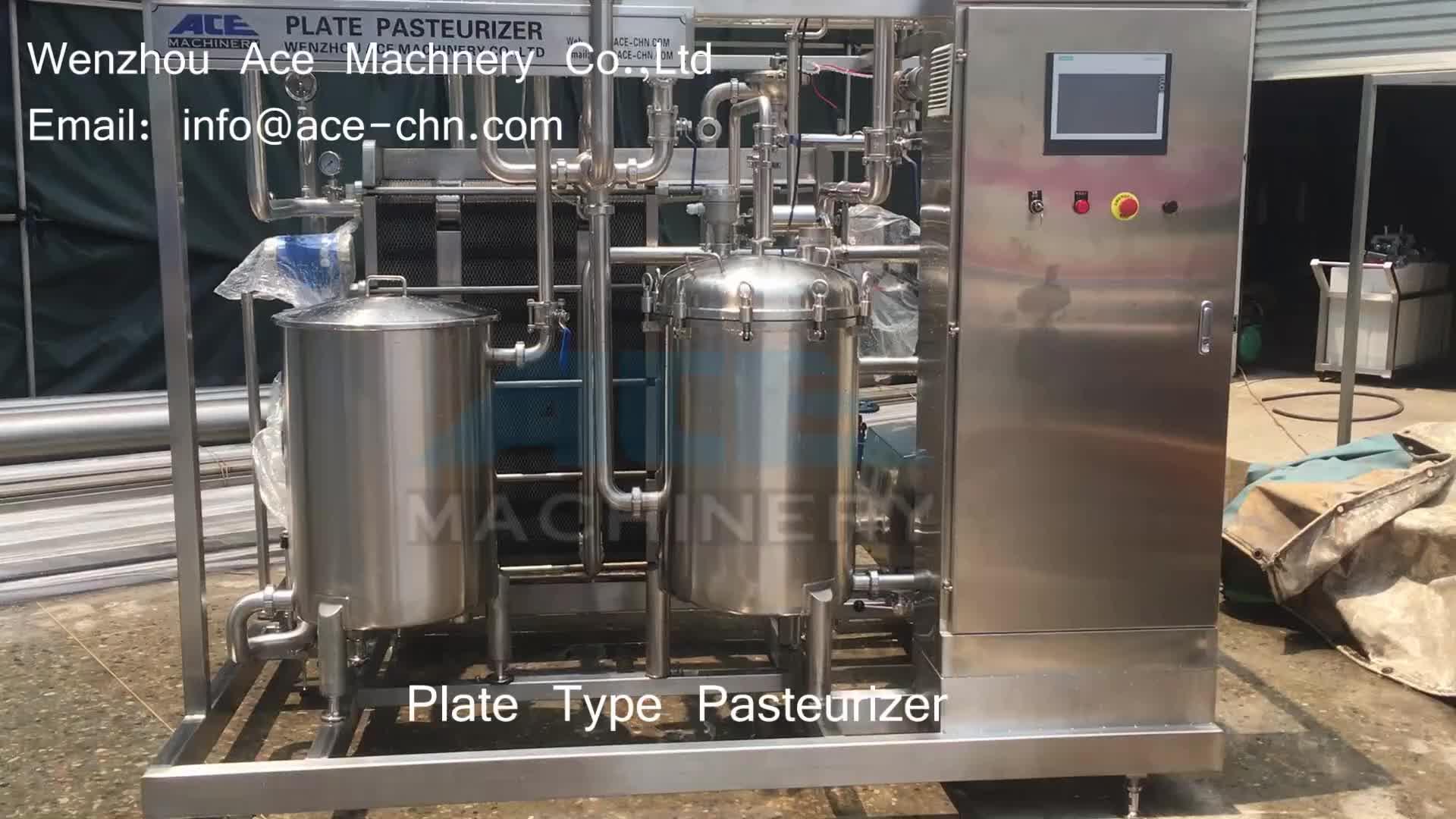 Ace-500 Type 500l Small Milk Batch Plate Heat Exchanger Milk Price ...