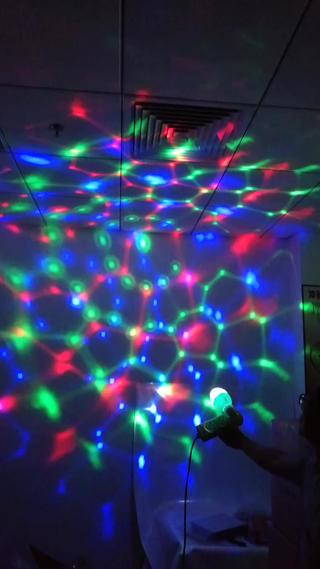 export to germany uk rgb colorful rotating room decoration 3w led