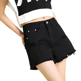 黑色短裤女夏高腰2019新款潮牛仔裤