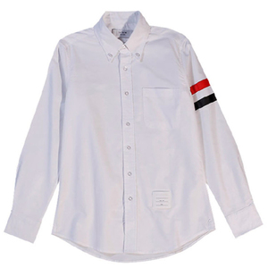 tb条纹男2021夏季新款韩版修身衬衫