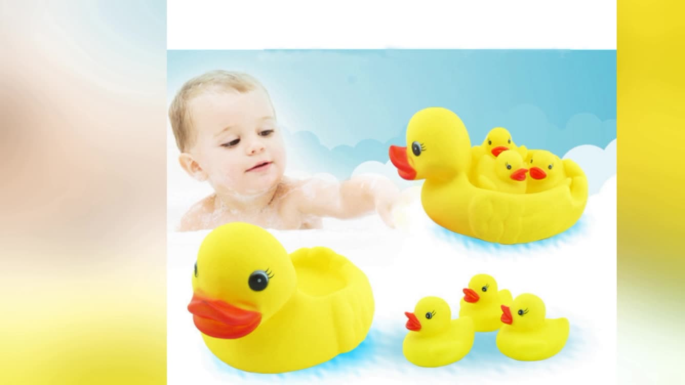 ebay hot sale cheap rubber duck 5pack baby swimming bath toy with ...