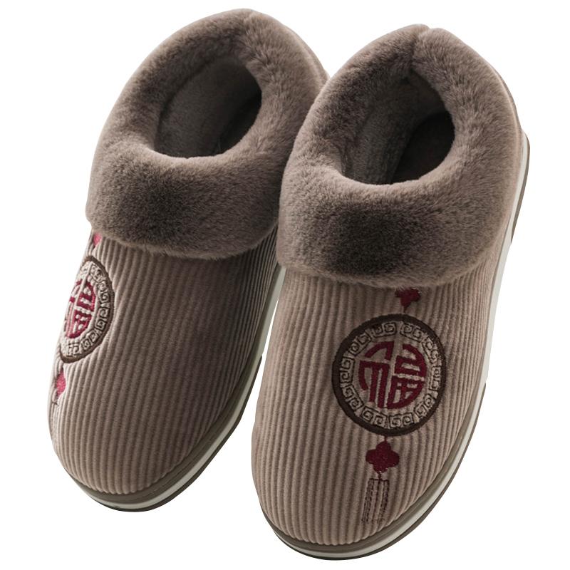 回力女棉拖鞋包跟厚底冬季男毛拖鞋质量怎么样