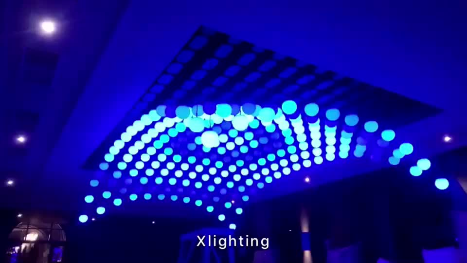 DMX 512 Car show led lifting ball lights