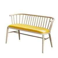 冬熊北欧皮艺小户型阳台沙发双人两人服装店工作室铁艺网红沙发