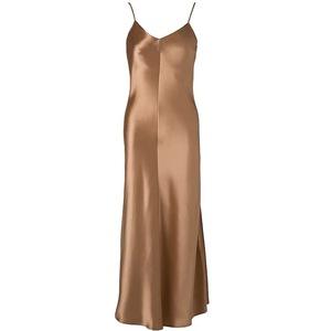 重磅进口光泽三醋酸缎面吊带连衣裙