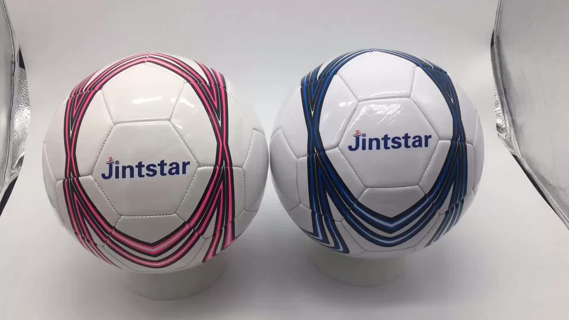 Promotionnel plaine gonflable blanc de football ballon DE football EN PVC de haute qualité