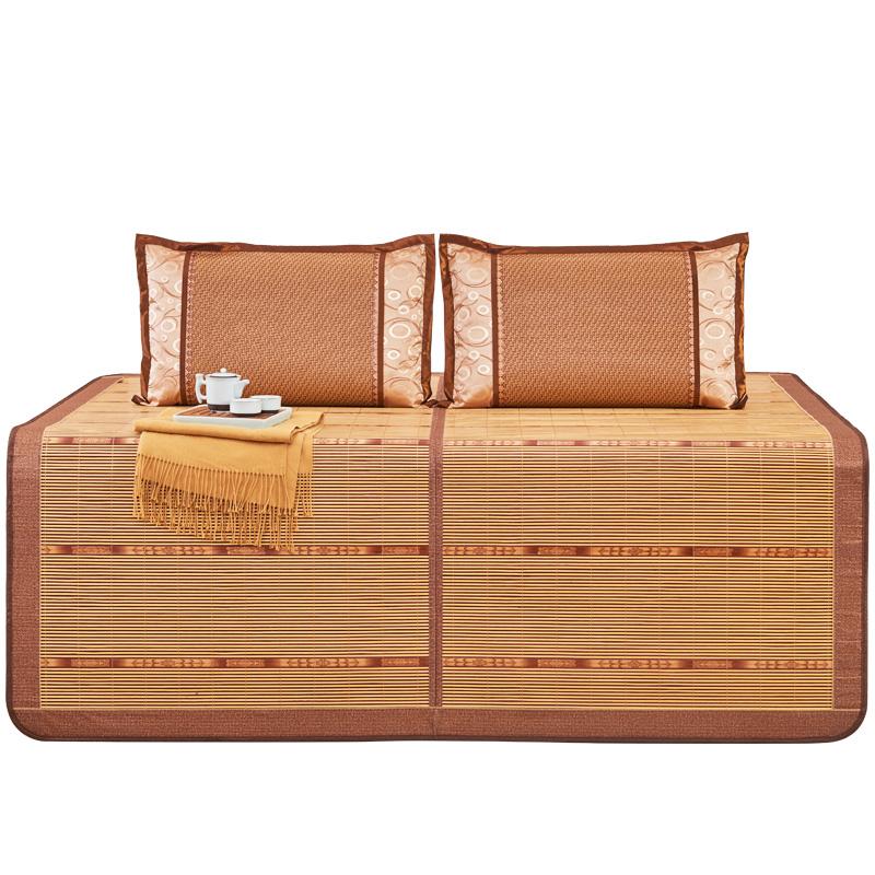福浪莱竹席凉席1.8米床折叠席子1.5m双面草席1.2/0.9寝室单人床席