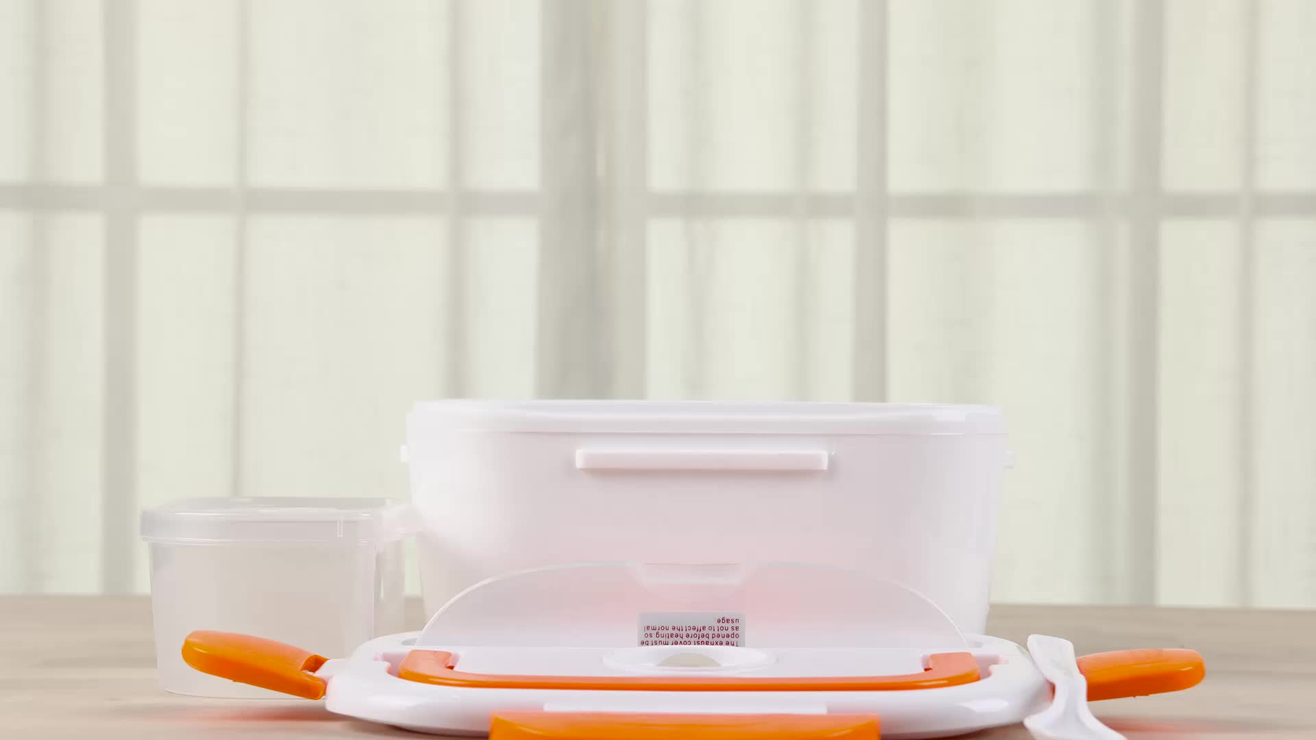 B10-0850 Hot Sale BPA Free 110V/220V 1.05L Plastic Bento Electric Heated Lunch Box