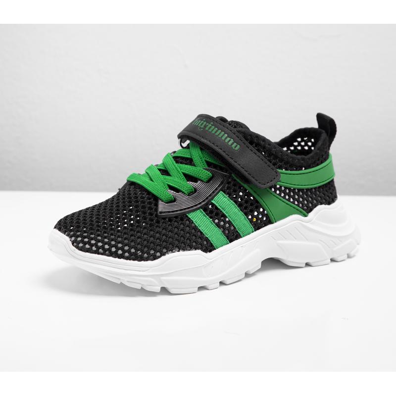 儿童运动鞋新款2019夏季男童软底中大童透气大网眼魔术贴儿童网鞋