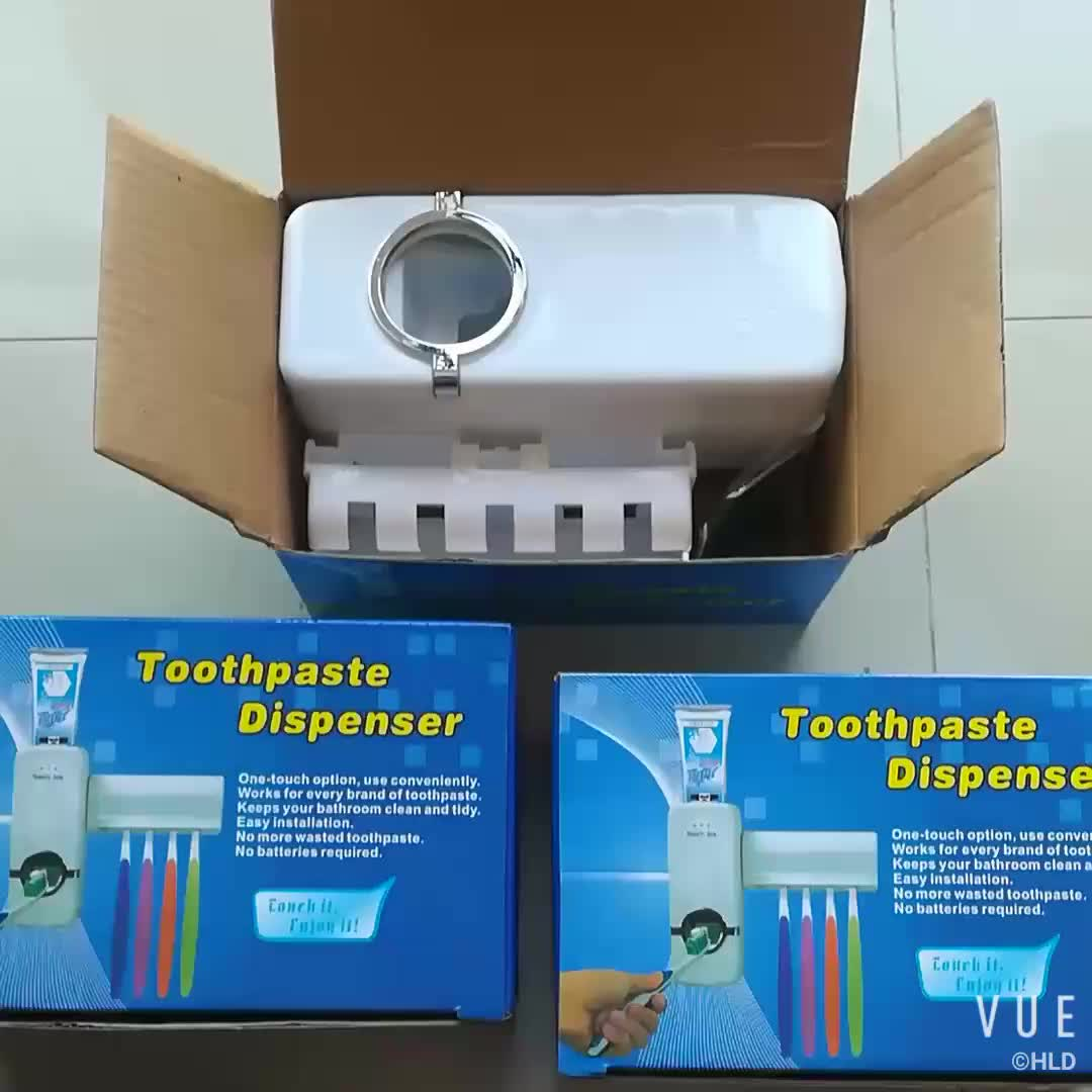 Touch Me Automatic Toothpaste Dispenser Toothbrush Holder