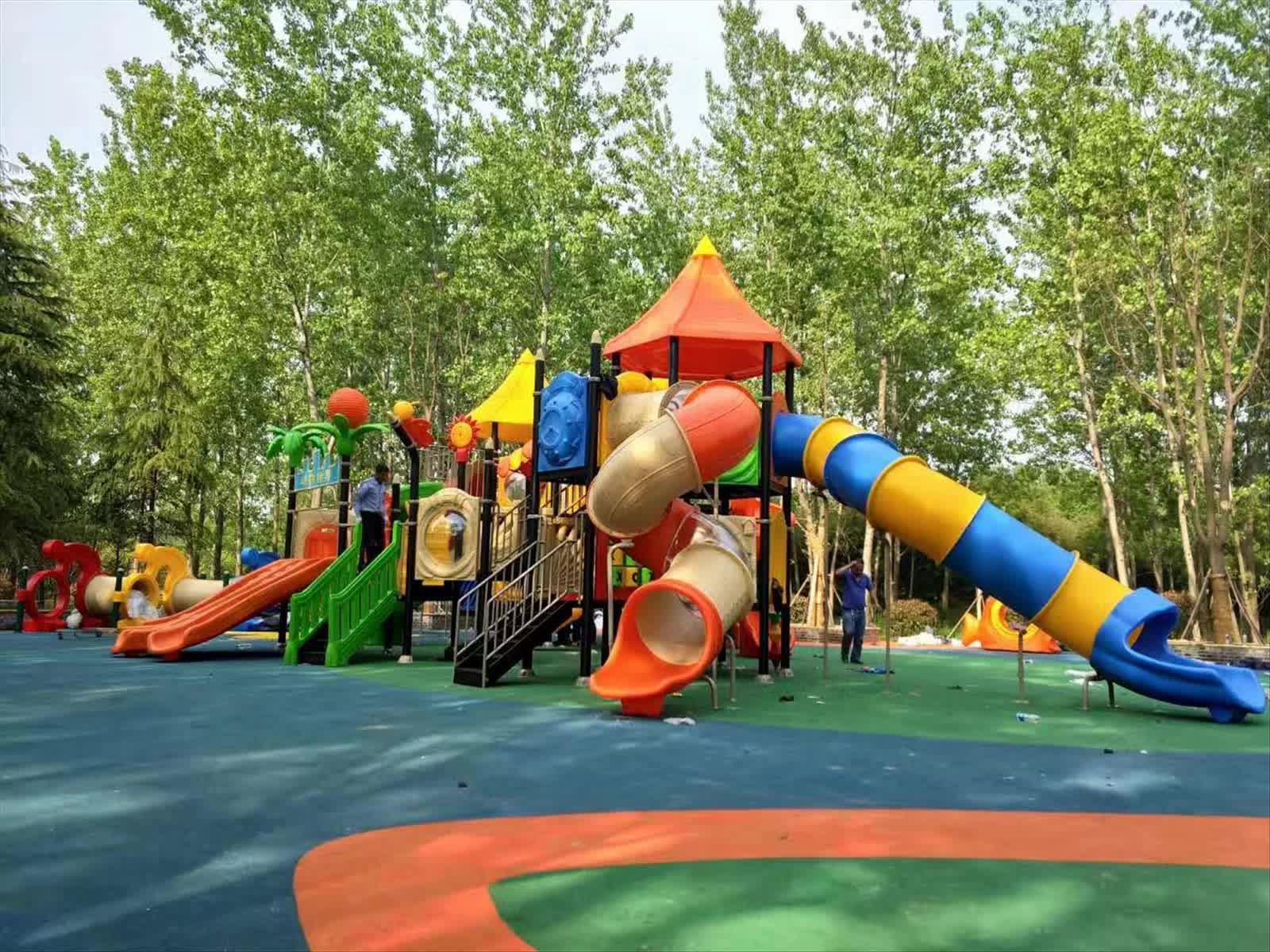 Plastic Playground Slide Material Kids Play Area