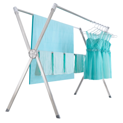落地折叠室内不锈钢户外防风晒衣架