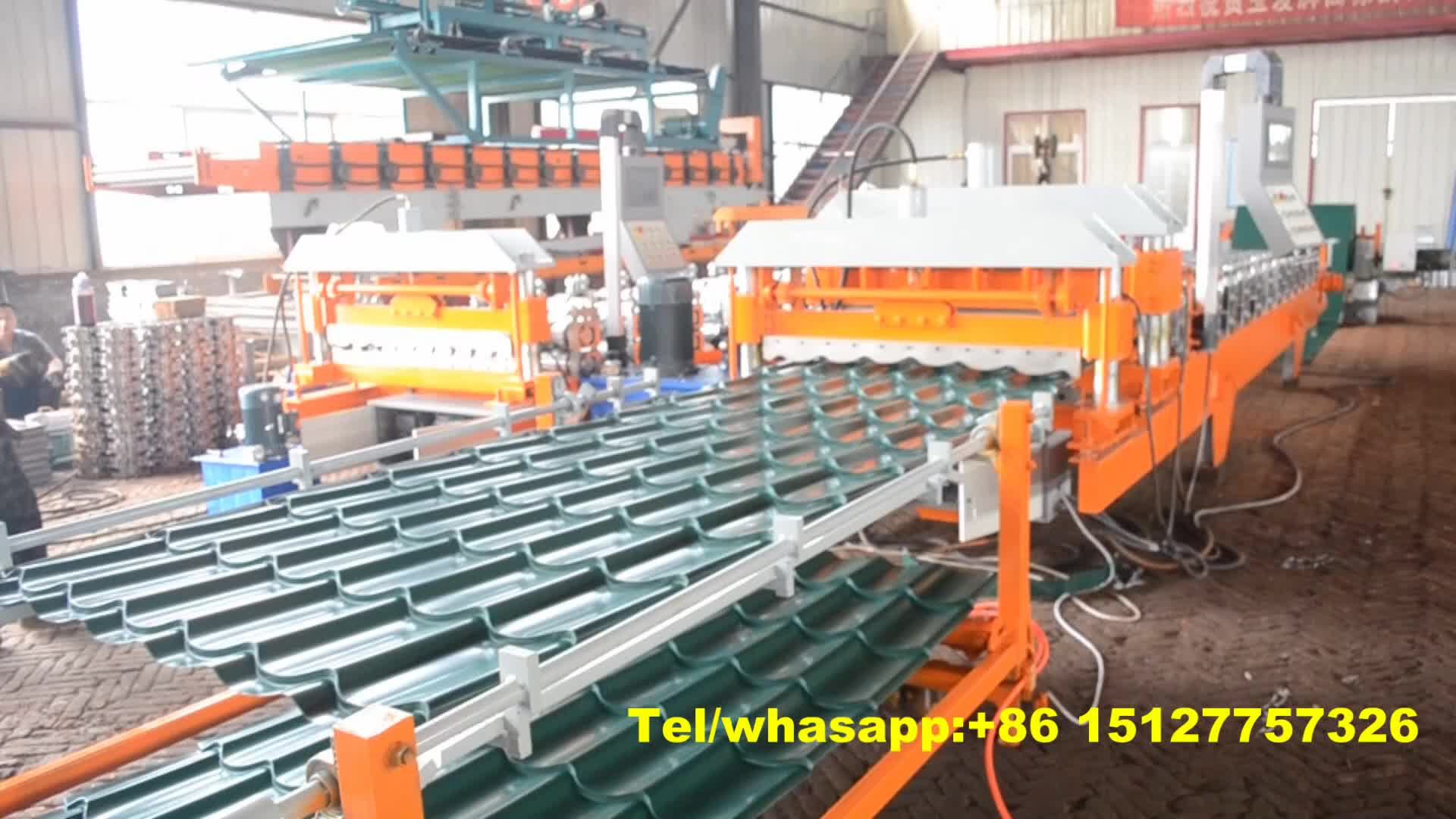 1100 c tile water ripper glazed step tile steel making roll forming machine
