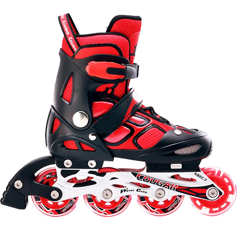 美洲狮儿童溜冰鞋全套装3-12岁旱冰鞋直排轮轮滑鞋男童女童初学者