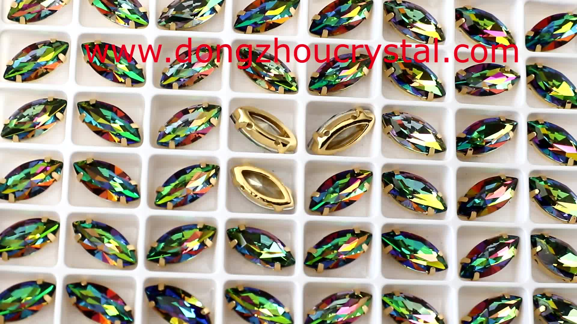 Hot Sale Horse Eye Shape Crystal Fancy Stone With Claw For Bridal Veil