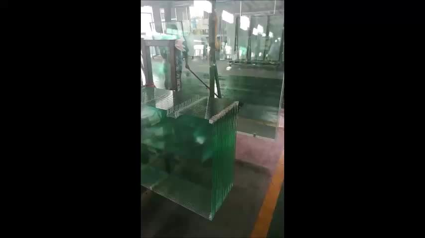 China tempered frosted shower door glass price
