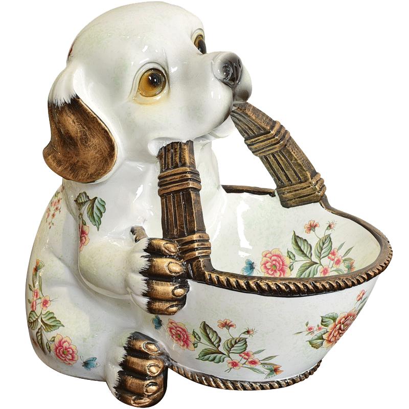 墨菲美式客厅干果盘零食盘创意鞋柜桌面钥匙杂物收纳装饰动物摆件