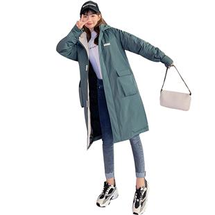 羽絨棉服女中長款棉襖2020新款冬季外套潮ins超火棉衣女韓版寬鬆