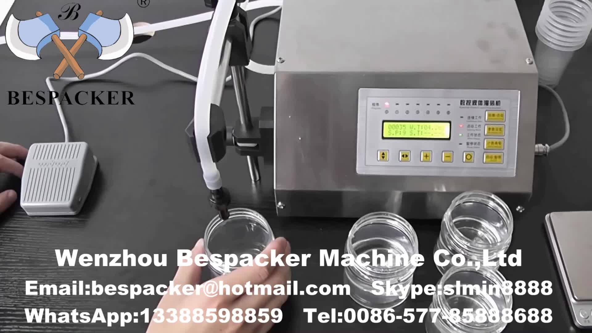 Bespacker GFK-160 Manual electric type small liquid mineral water juice bottle filling machine