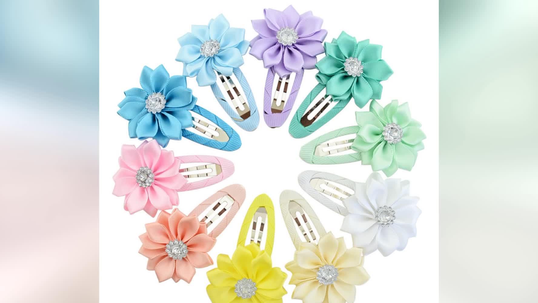 Baby-Blumen-Haarnadel-Band-Haar-Bogen