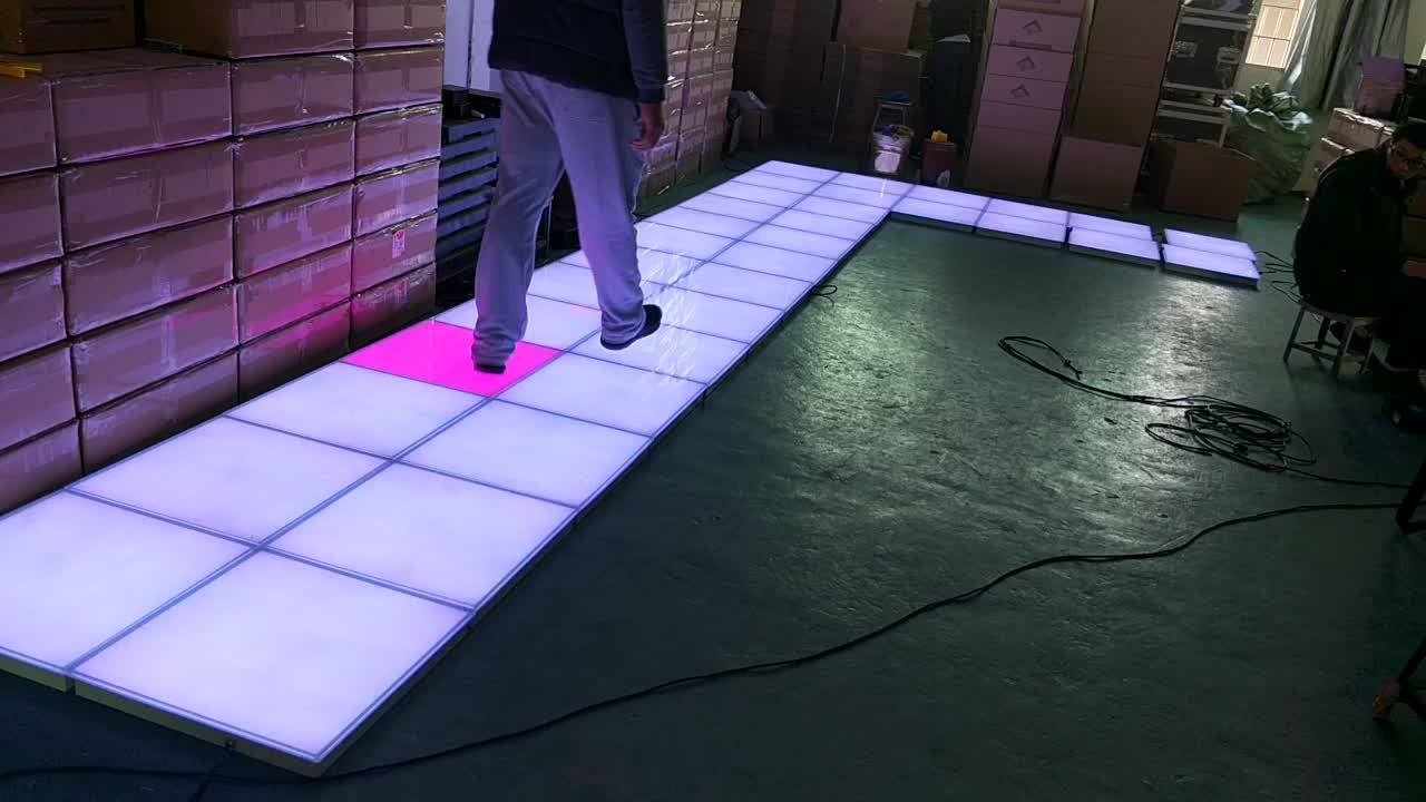 Ip65 Portable Touch Sensitive Rgb Color Led Dance Floor