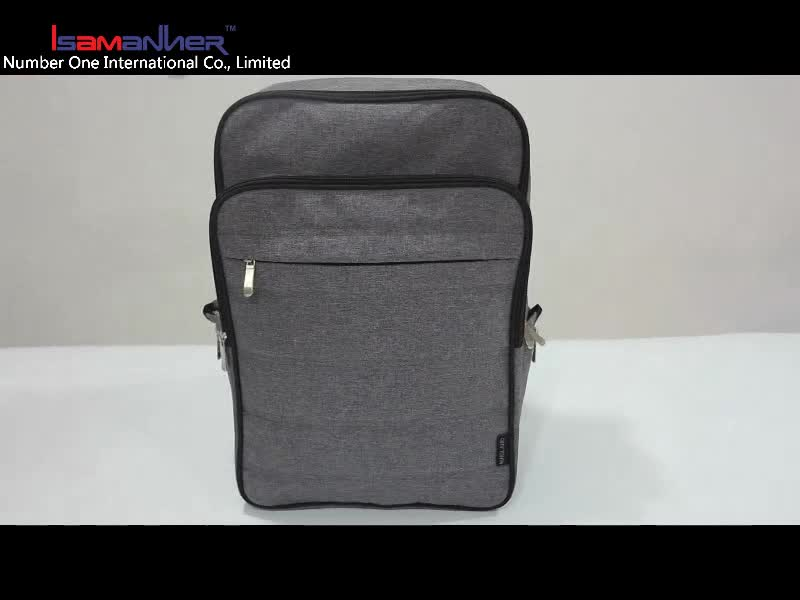 "Durable nylon 15.6"" water resistant lightweight ultra slim laptop backpack"