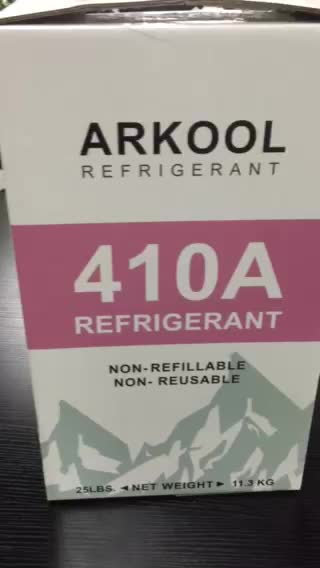 Cooling and heating HVAC R410a refrigerant gas cylinder