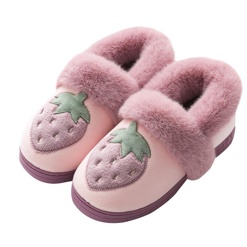 秋冬季棉拖鞋女包跟家用居家居可爱好用吗?