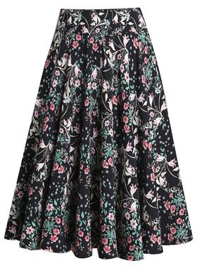 百褶裙夏季新款短裙雪纺半身裙女小碎花短款蓬蓬裙高腰大摆裙中群