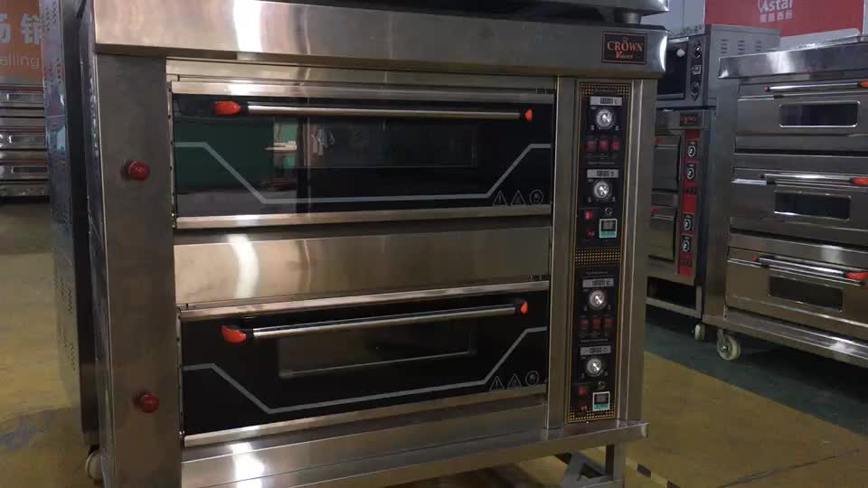 High quality bread cake pizza  bakery 2 deck 4 trays gas oven