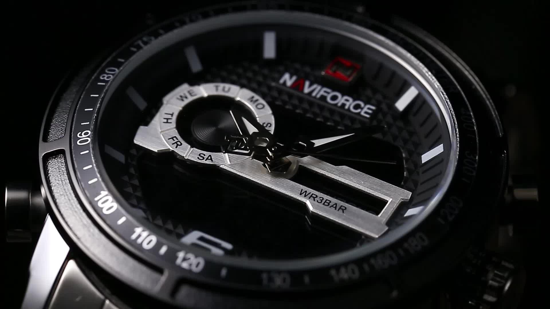 NF 9119 mens digital alloy Waterproof wrist sportsofficial store ,brand owner of Naviforce Watch